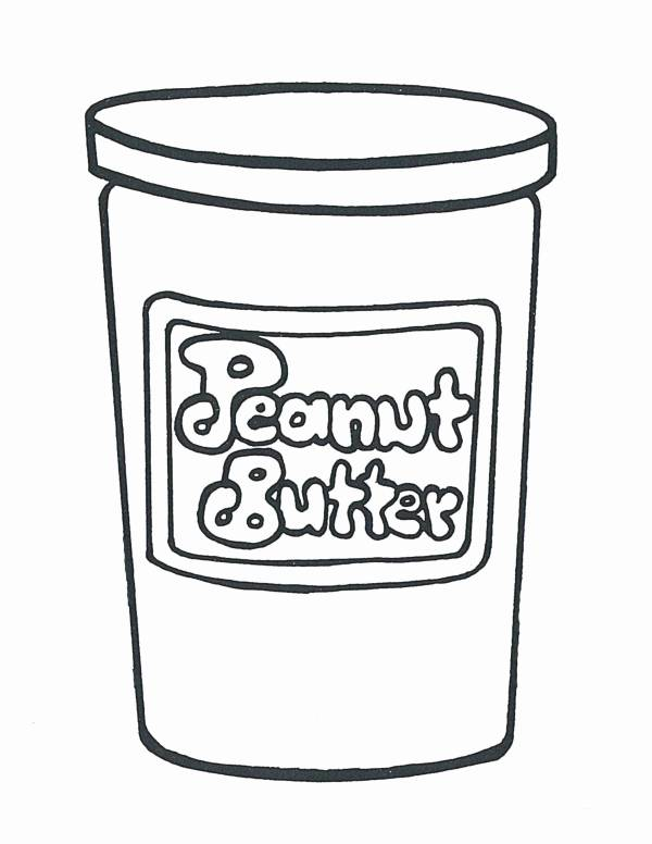 Peanut Butter Jar Coloring Page 600