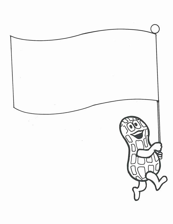 Peanut with flag coloring page 600
