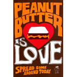 Vintage 'Peanut Butter is Love' Poster